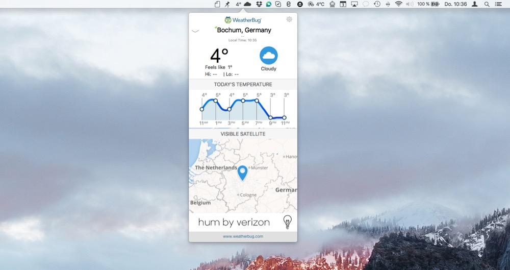 WeatherBug mac