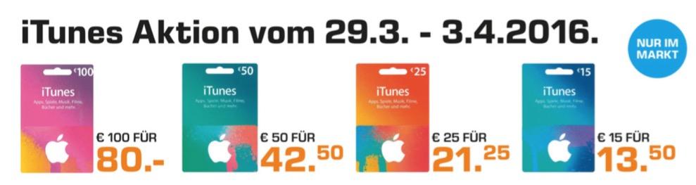 iTunes Aktion Saturn