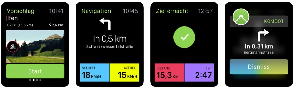 komoot apple watch