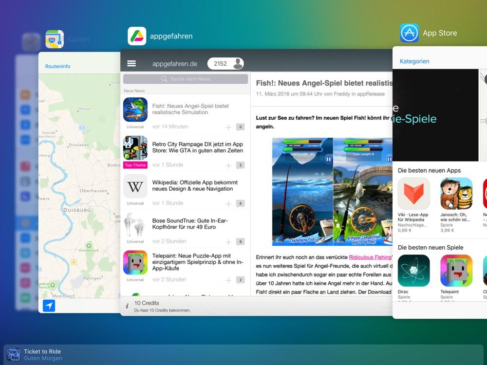 multitasking app switcher