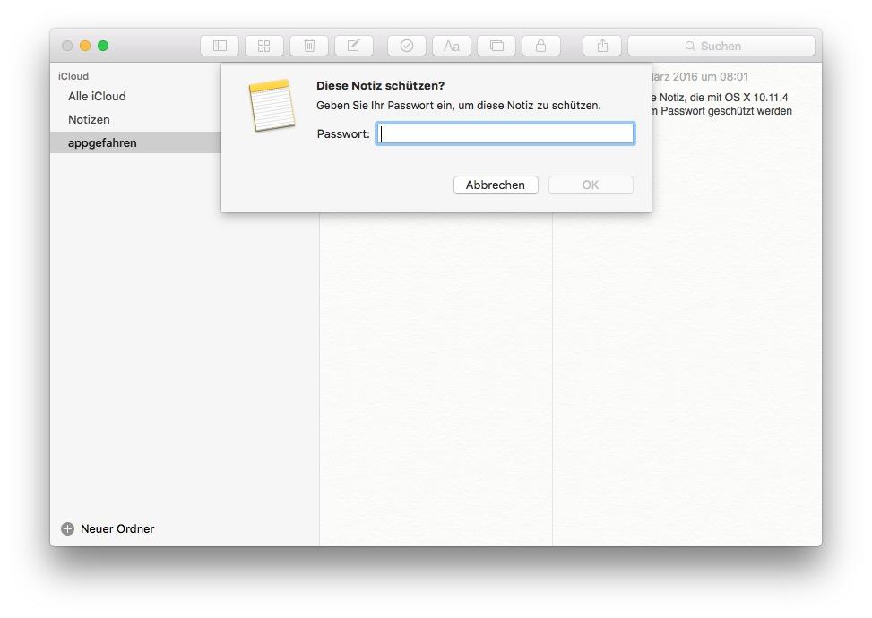 notizen mac passwort