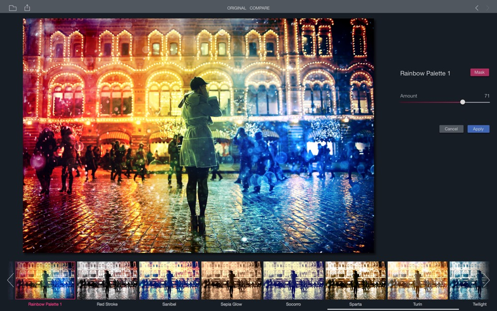 Filters for Photos color raindbow