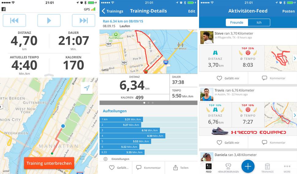 Laufe mit Map My Run