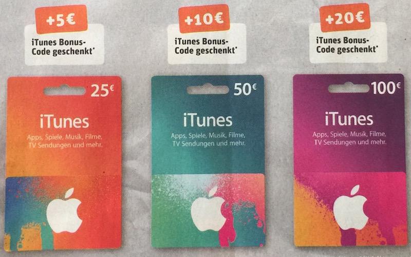 Rewe iTunes Bonus
