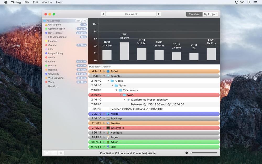Timing OS X