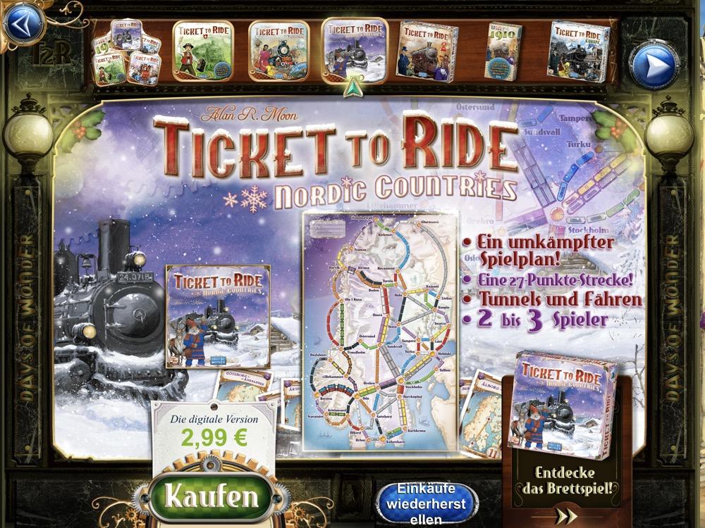 ticket to ride skandinavien