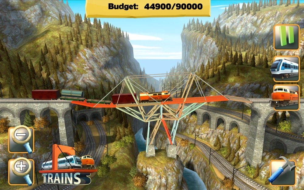 Bridge Constructor trains