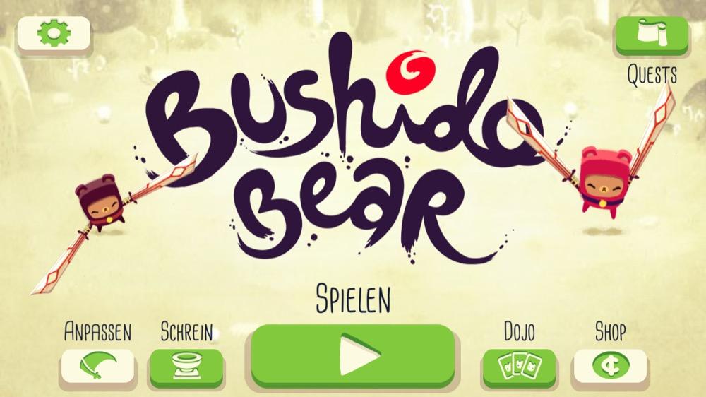 Bushido Bear menu