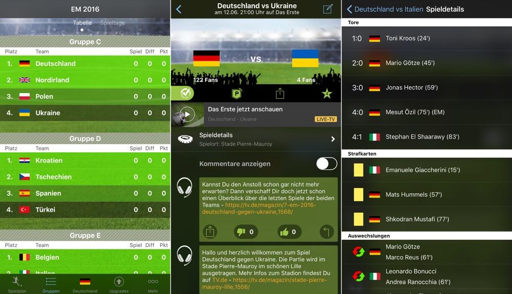 EM 2016 App Live TV