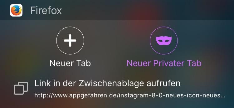 Firefox widget