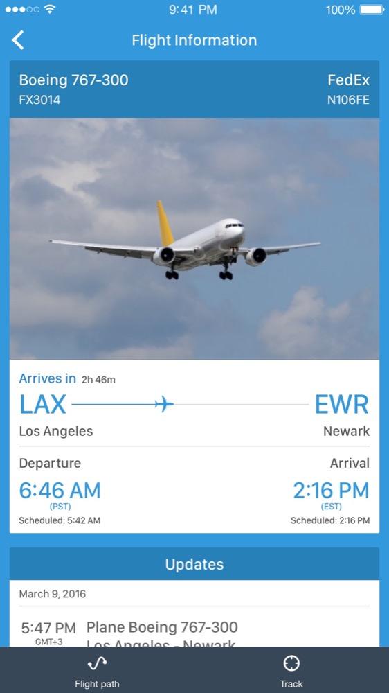 Flugzeuge Live App