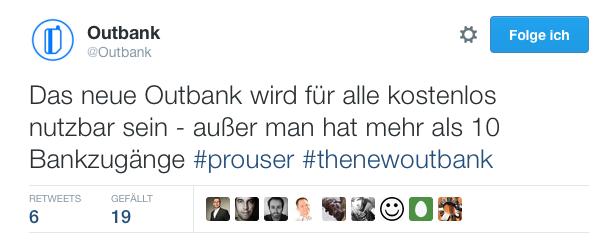 Outbank tweet