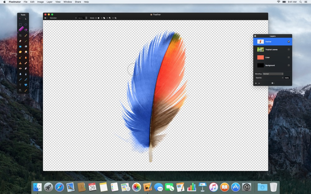Pixelmator Quick Selection Tool