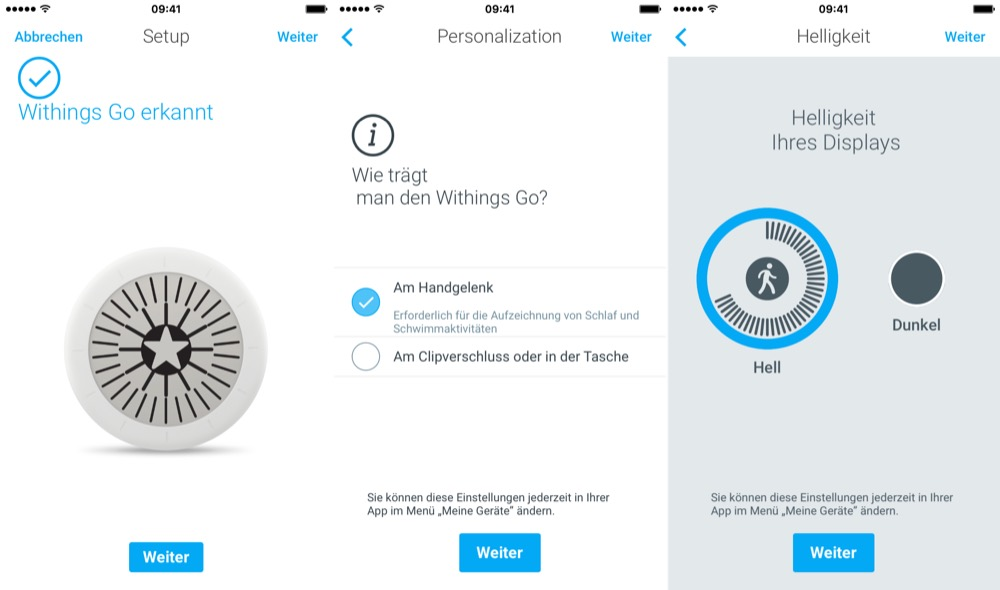 Withings Go einrichtung