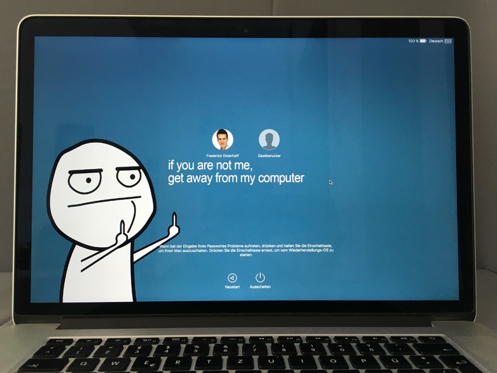 login screen mac