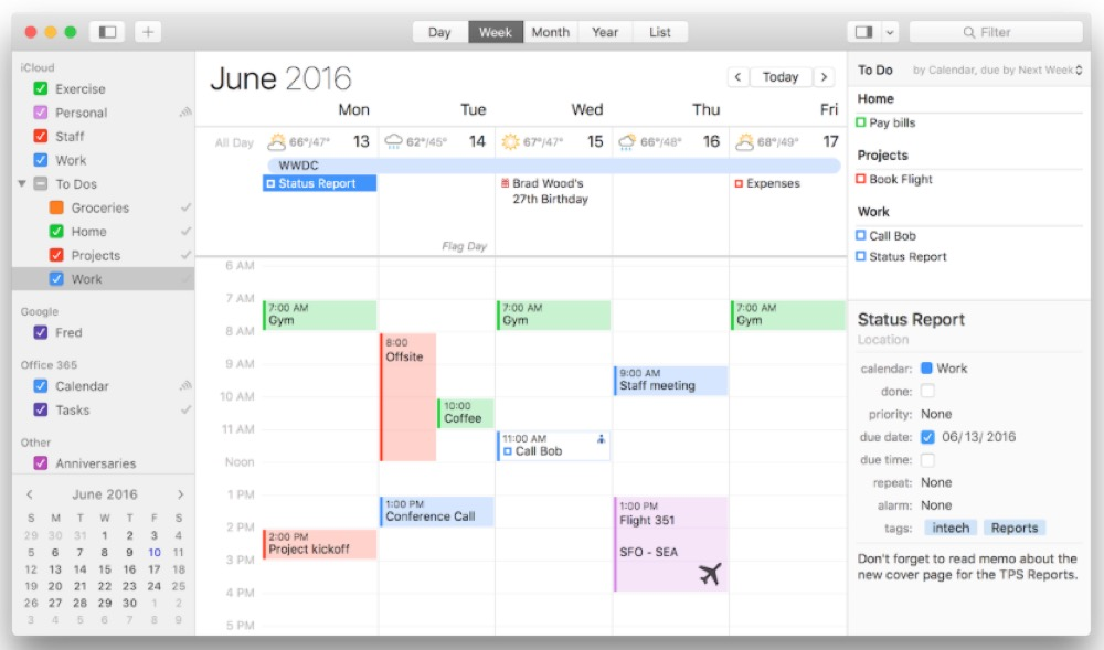 BusyCal 3 OS X
