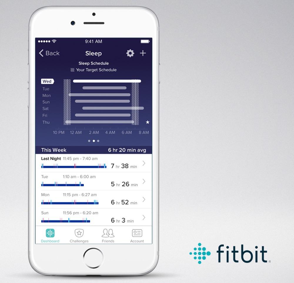 FitBit Schlafplaner