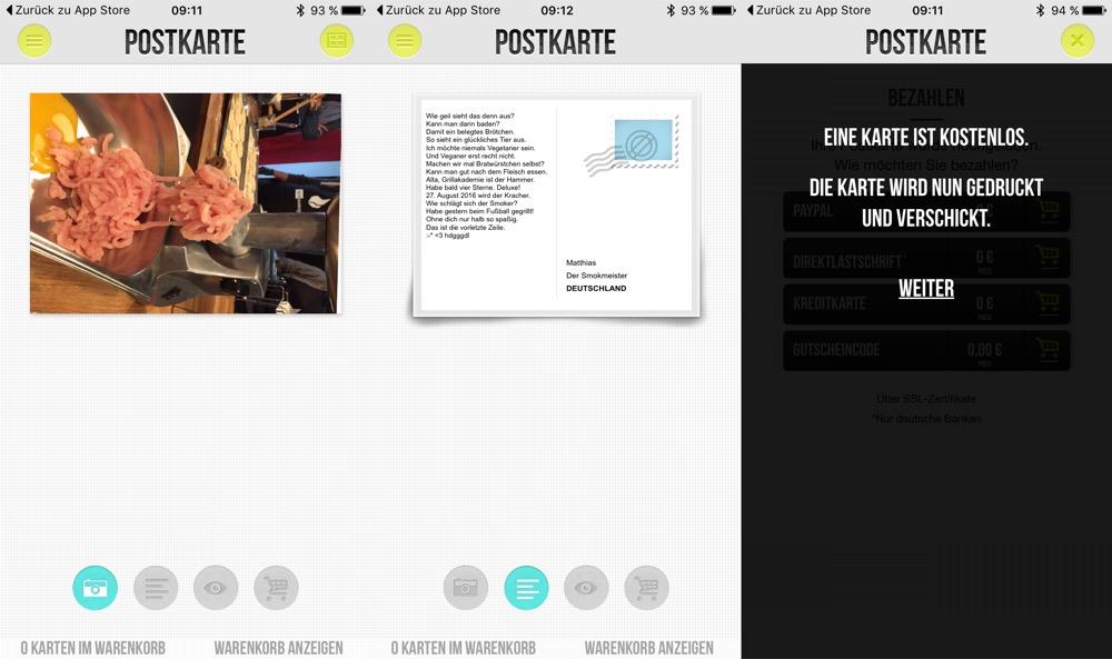 Postkarte App