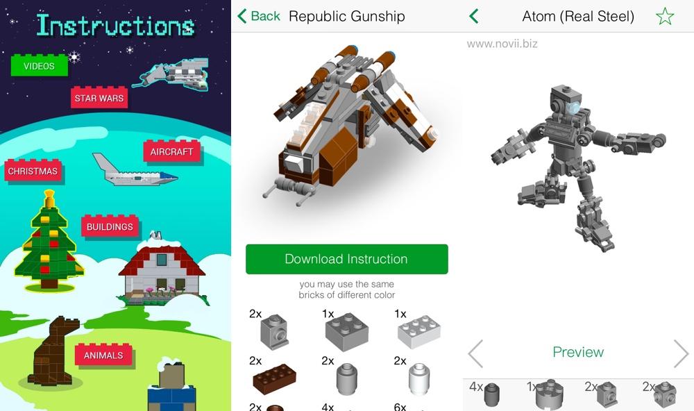 Anleitungen fuer Lego