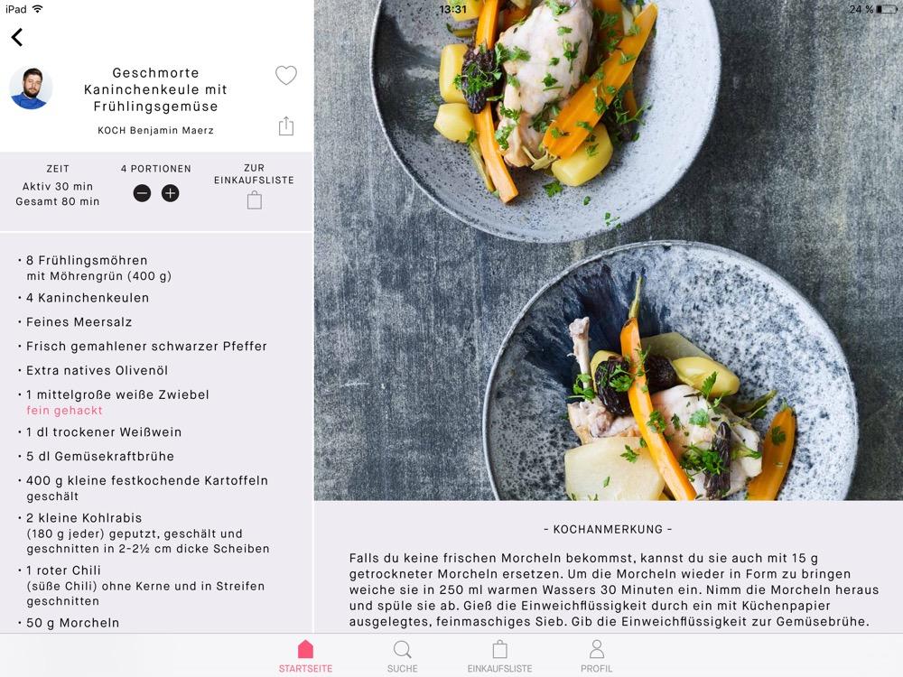 Feast Kitchen iPad