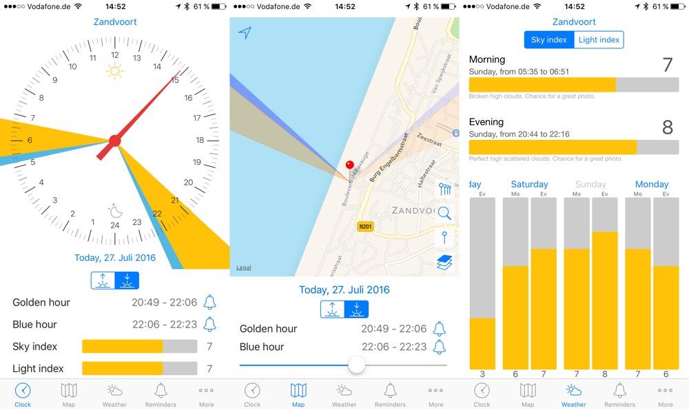 GoldenHour one: Praktische App für alle Fotografen