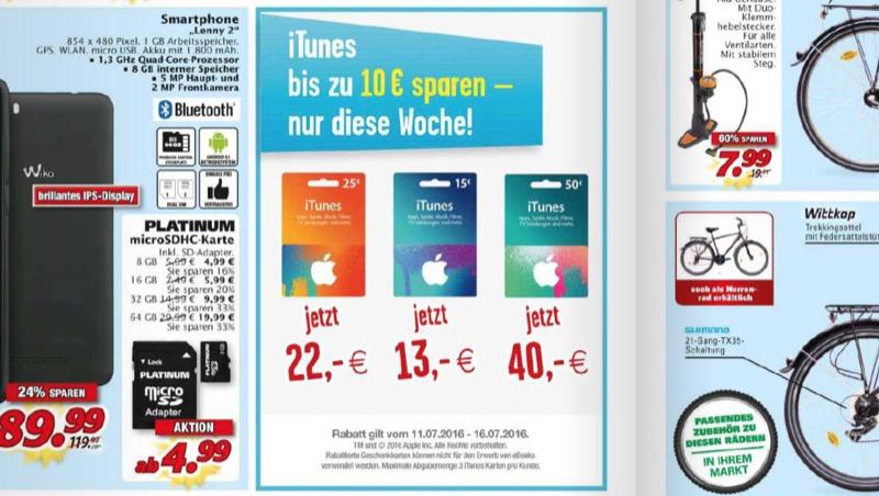 Marktkauf iTunes-Karten