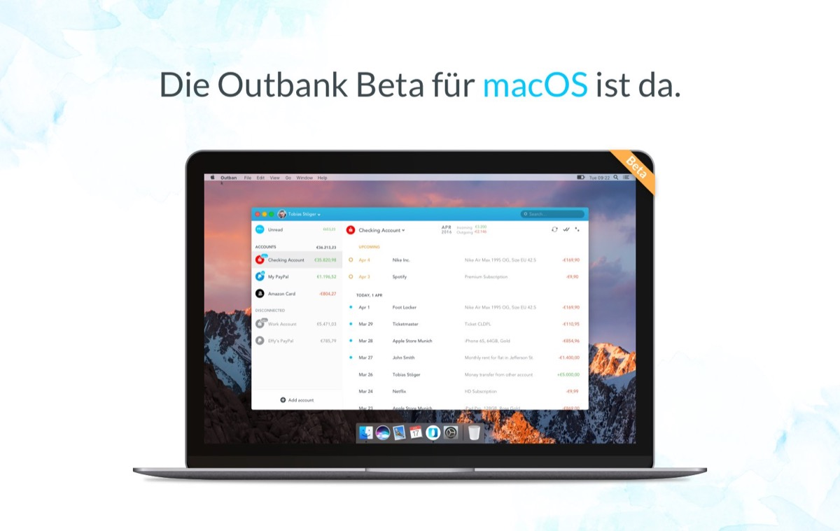 Outbank Mac Beta
