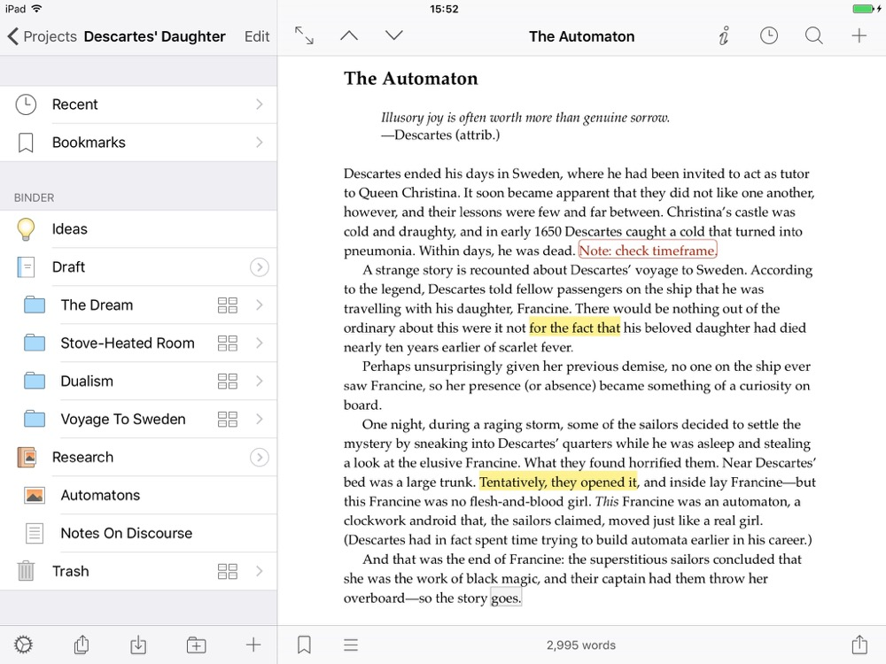 Scrivener iOS 1