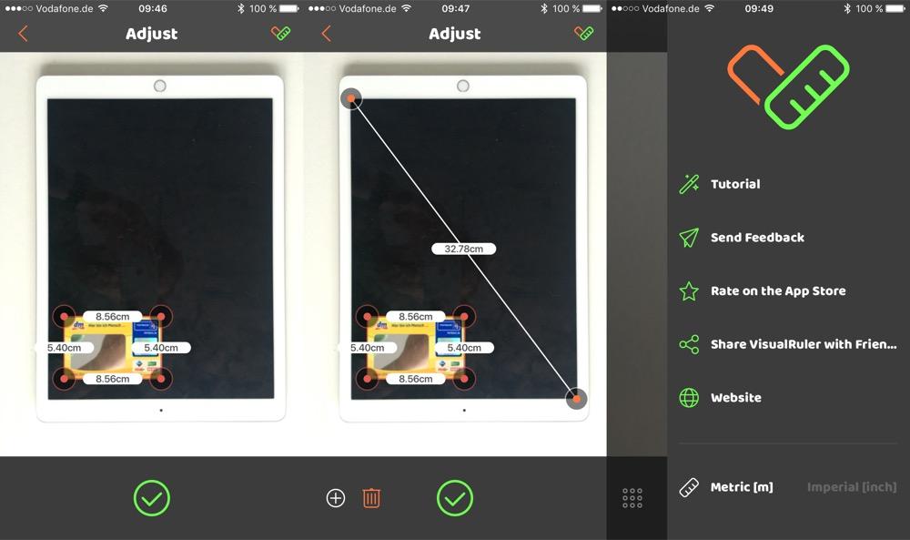 Iphone Entfernungsmesser Vodafone : Visualruler neue app will iphone zum maßband machen
