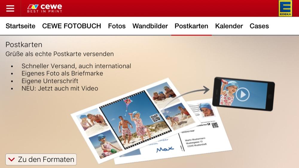 cewe fotowelt postkarte