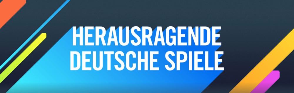 Herausragende deutsche Spiele Banner