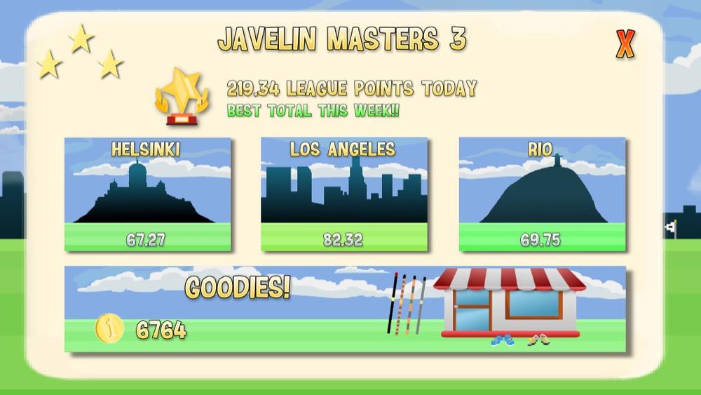 Javelin Masters 3 Menu