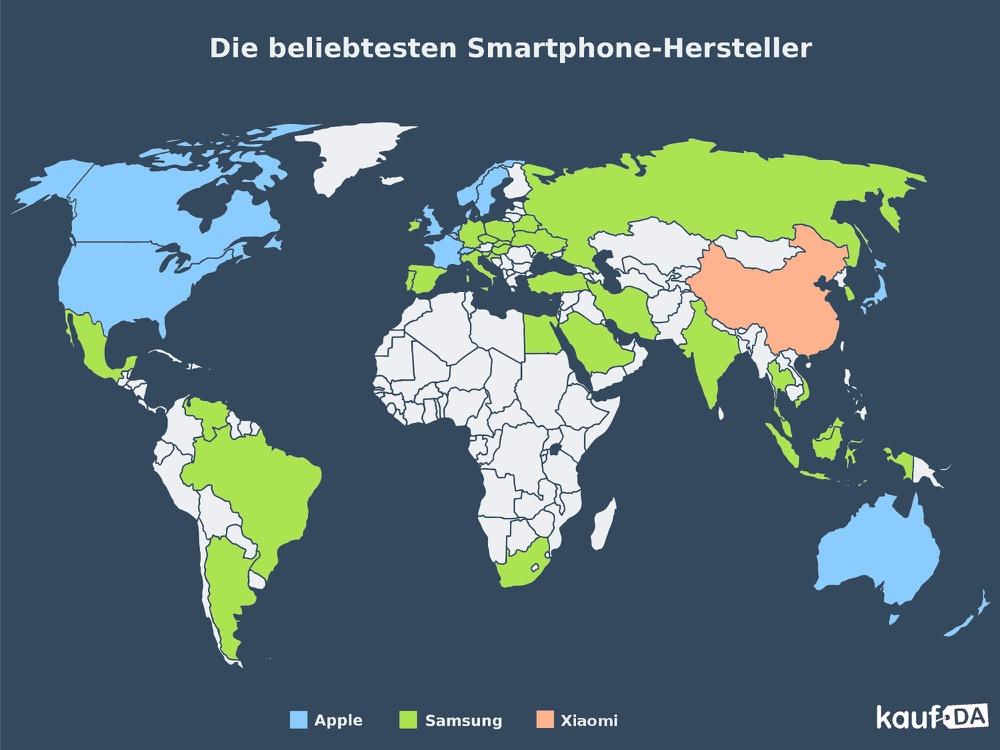 Smartphone-Hersteller-nach-Beliebtheit-weltweit