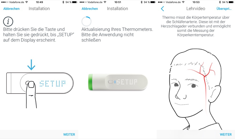 Withings Thermo Einrichtung