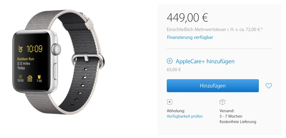 Apple Watch Series 2 Bestellung 1