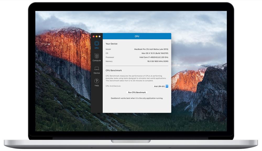 Geekbench4 mac