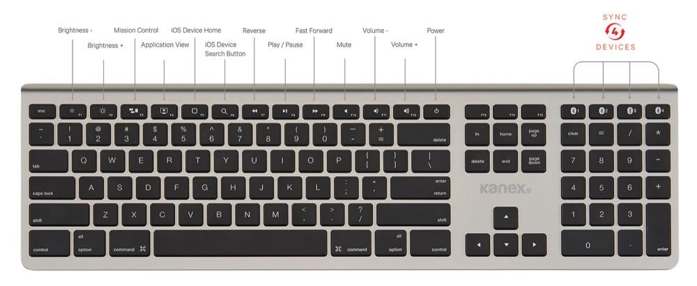 Kanex Bluetooth Keyboard 1