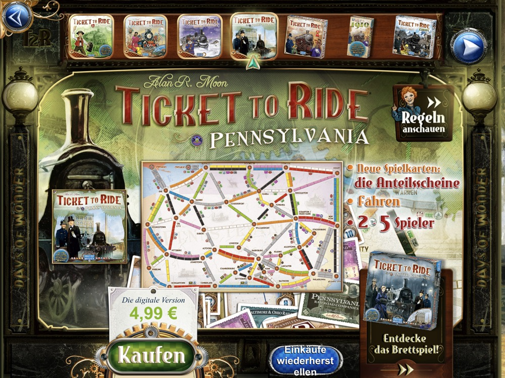 Ticket to Ride pens