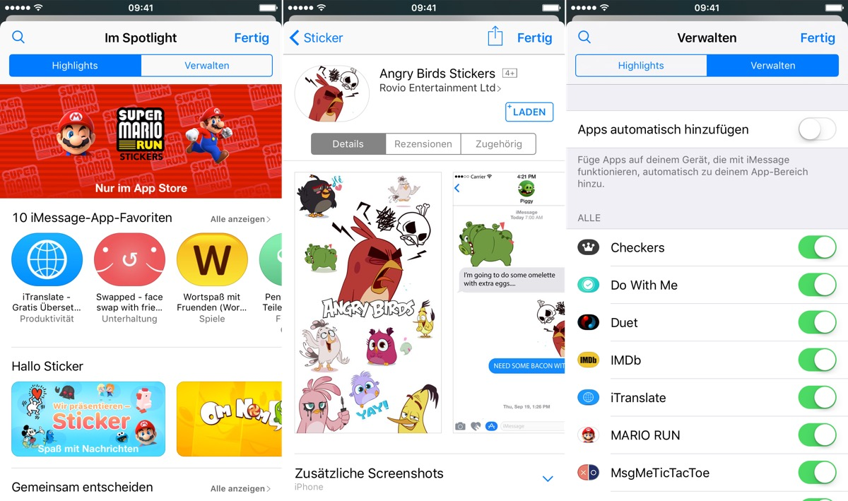 iMessage App Store apps
