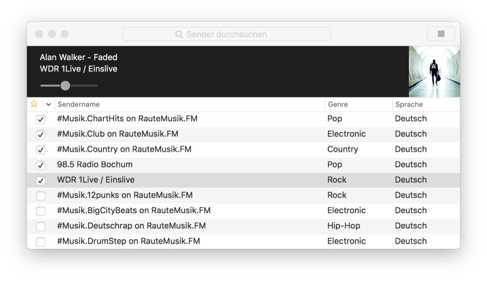RadioApp mac