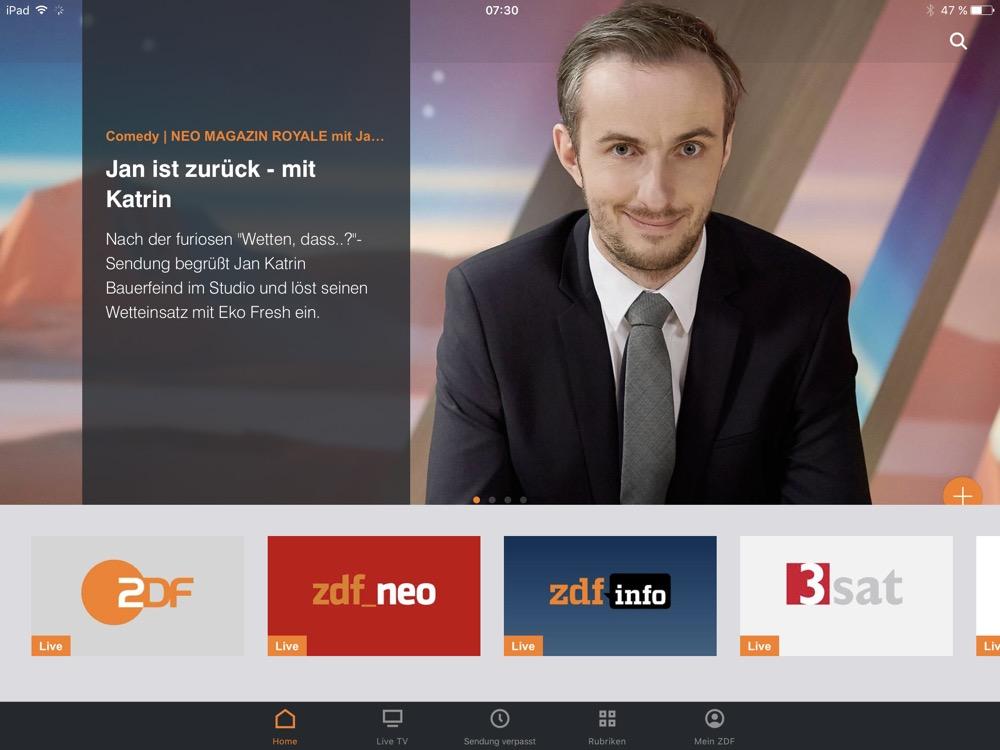 ZDFmediathek ipad