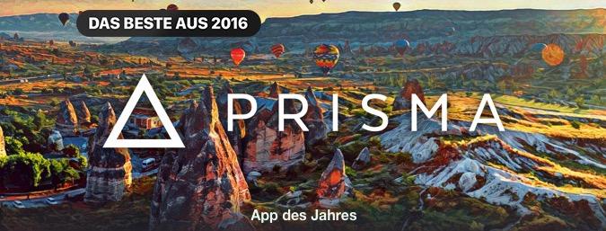 Prisma App des Jahres