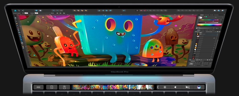 affinity photo touch bar