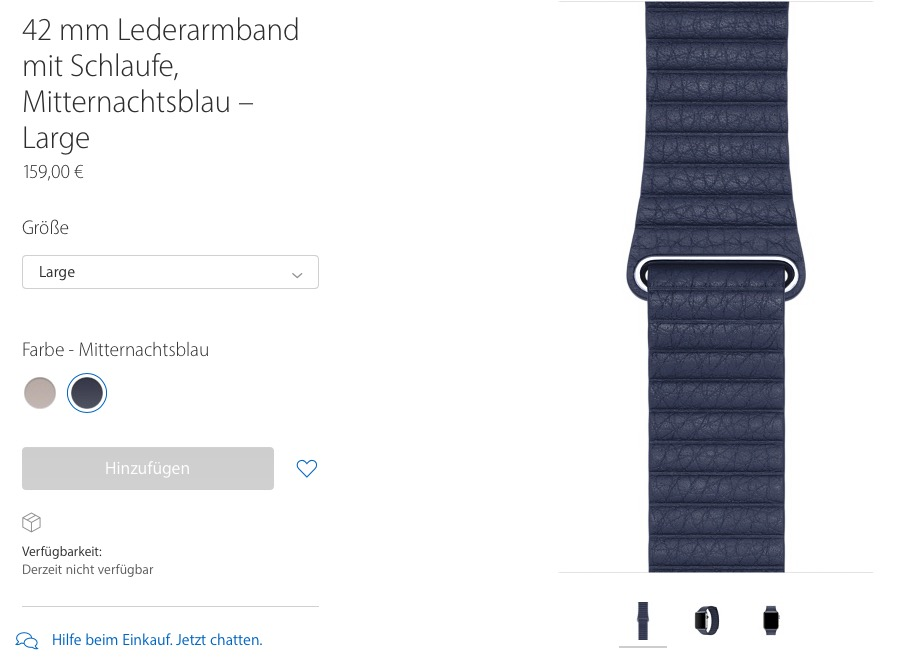 Loop Lederarmband Apple
