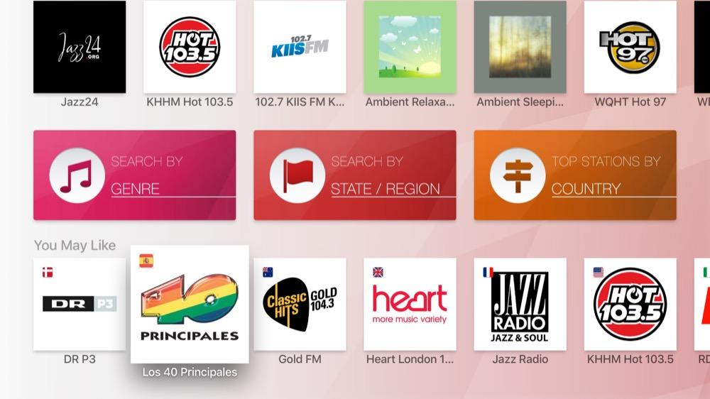 myTuner Radio apple tv