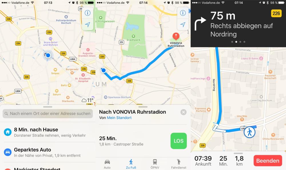 Apple Karten Navigation