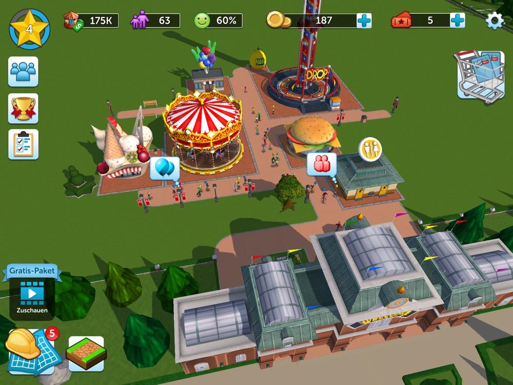 RollerCoaster Tycoon Touch: Freemium-Simulation überzeugt nicht