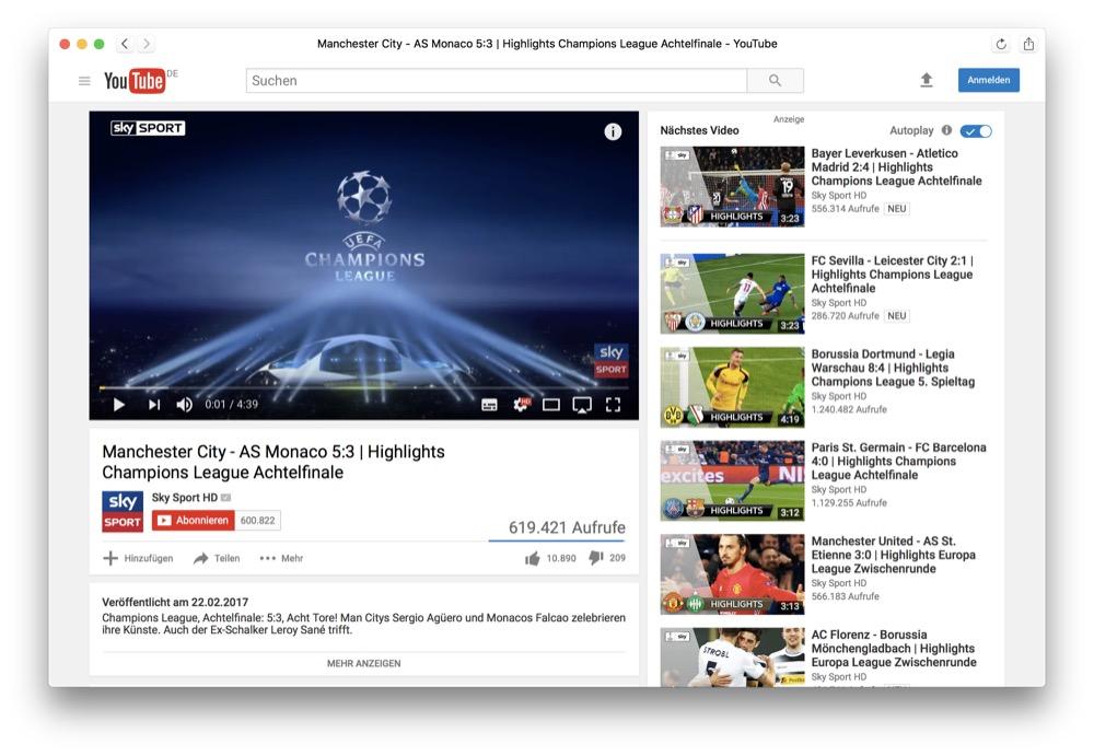 DeskApp: YouTube-Player als Mac-App mit Benachrichtigungen