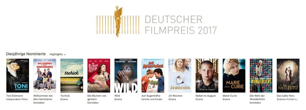 Deutscher Filmpreis 2017 iTunes