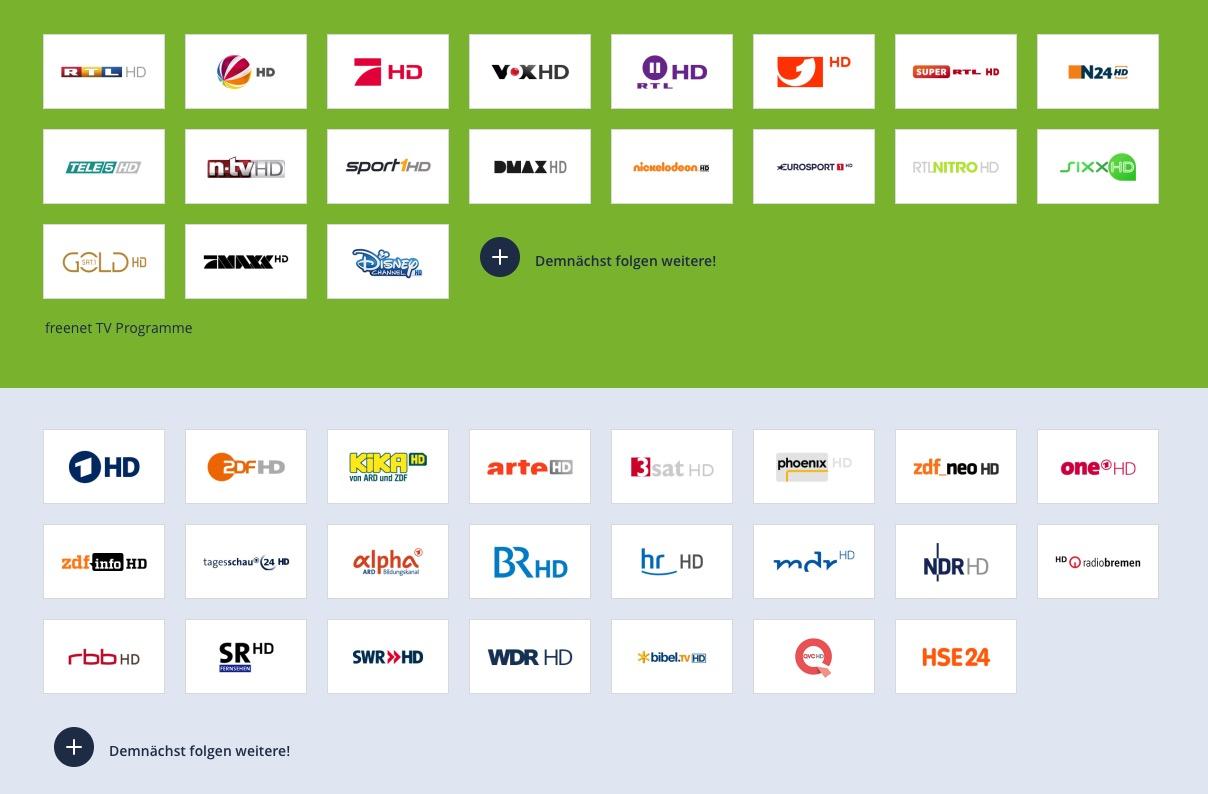 Freenet tv Sender